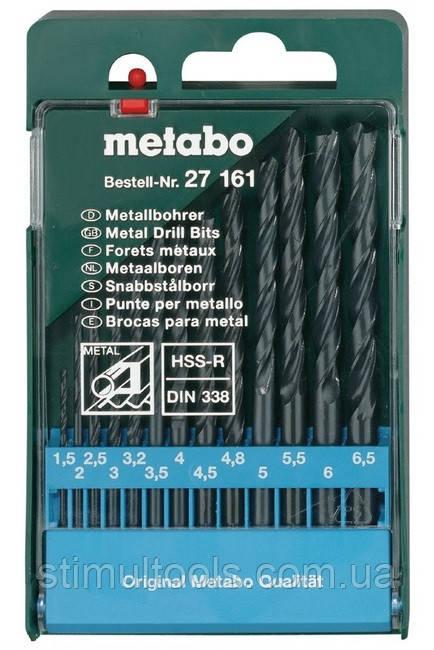 Набор сверл по металлу Metabo HSS-R 13 сверл