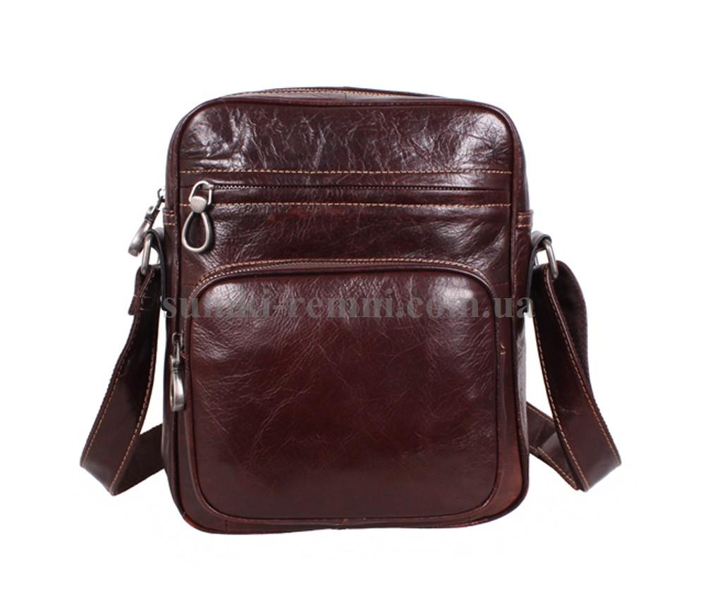 Мужская кожаная сумка LA3225-4RCF коричневая