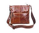 Мужская кожаная сумка LA9017-2BR коричневая, фото 2