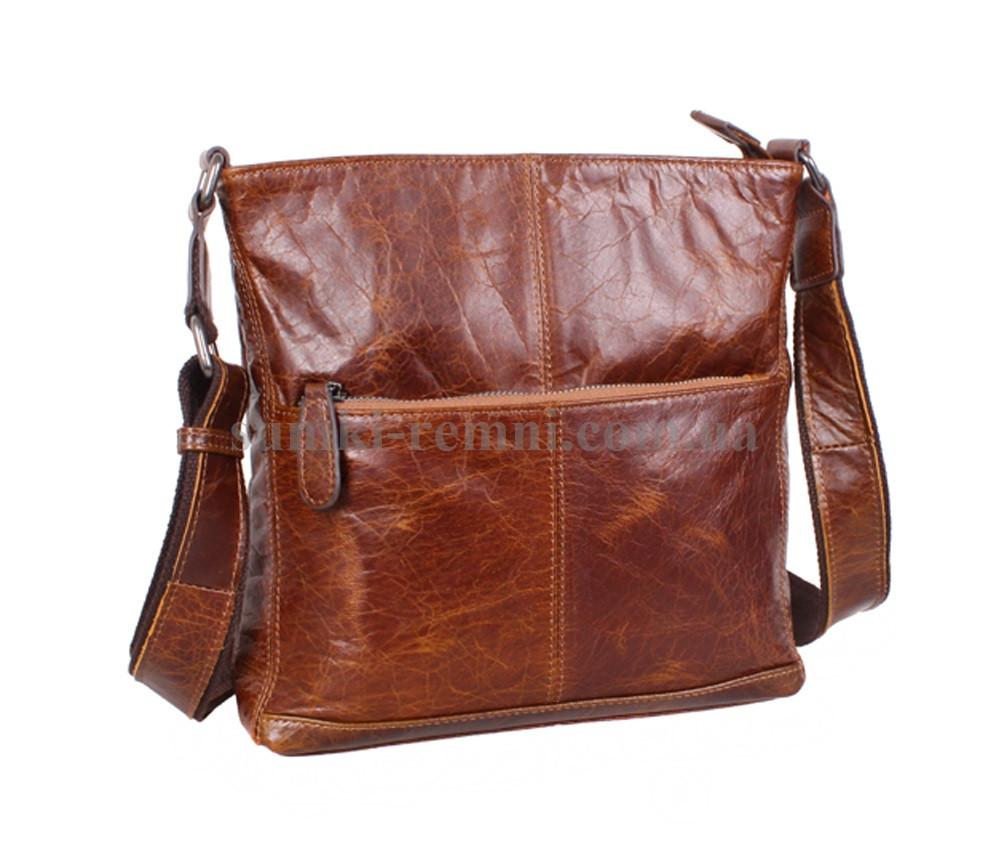 Мужская кожаная сумка LA9017-2BR коричневая