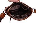 Мужская кожаная сумка LA9017-2BR коричневая, фото 7