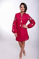 Женское вышитое платье «Ружа красная»