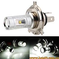 Авто-лампы H4 6 CREE LED 5500K (светодиодные лампочки для авто, лучше за галогеновые и ксеноновые)