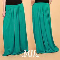 Длинная женская юбка из вискозы Гоа бирюза