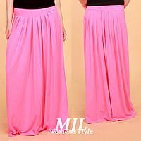 Длинная женская юбка из вискозы Гоа розовая