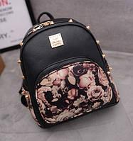 Женский городской рюкзак с цветочным принтом