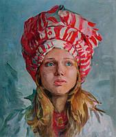 Портрет маслом по фотографии на холсте акварель акрил пастель