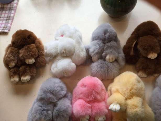 Меховой брелок на сумку зайчик, кролик - Babyroom в Харькове