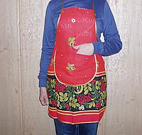 Фартук / передник  кухонный (вафельный) с карманом