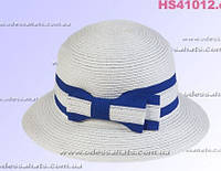 Белая  женская шляпа  для лета