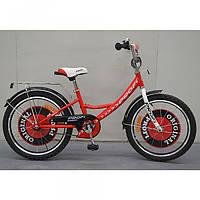 Велосипед детский PROF1 14д. G1445  Original boy,красный,звонок,доп.колеса