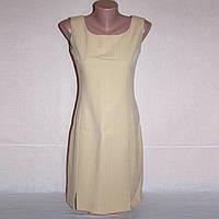Бежевое деловое платье карандаш, р.42-44