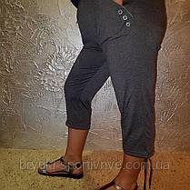 Бриджі жіночі трикотаж - великі розміри, фото 3