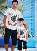 Детский комплект футболка+шорты для мальчика Турция. VOGUE 35011. Размер 6-7 лет.