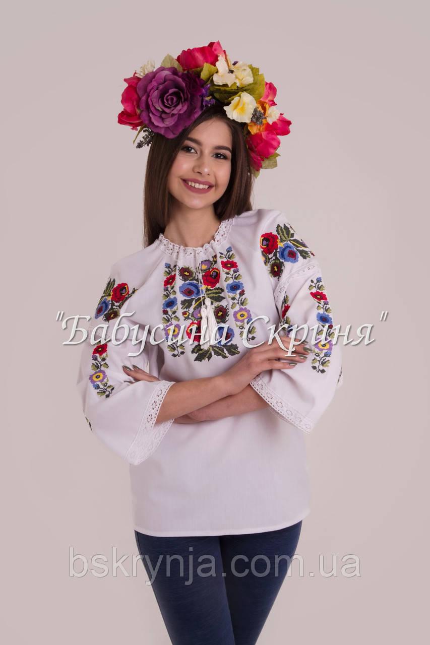 Заготовка для вишивки бісером нитками жіночої сорочки БС-119 ... 110f34a725c50