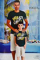 Детский комплект футболка+шорты для мальчика Турция. VOGUE 35003. Размер 6-7 лет.