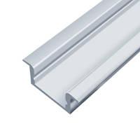 Профиль алюминиевый LED врезной BET7V 6,8х16мм, анодированный, без линзы (рассеивателя)