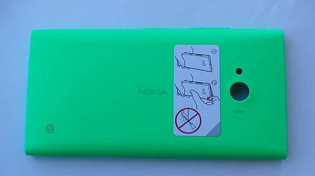 Задняя крышка Nokia Lumia 730 зелёная, оригинал, 02507Z4, фото 2