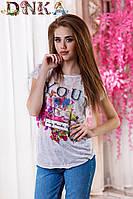 Яркая женская футболка