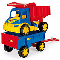 Большой игрушечный грузовик Гигант + тележка