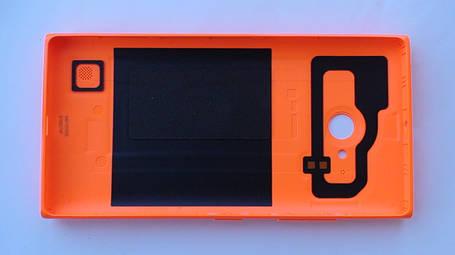 Задняя крышка Nokia Lumia 730 оранжевая, оригинал, 02507Z5, фото 2
