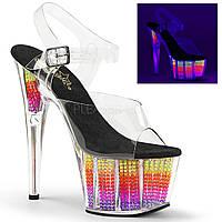 Практичные босоножки Disco dance c разноцветным наполнением