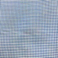 Коттон сорочечный в мелкую голубую клетку, фото 1