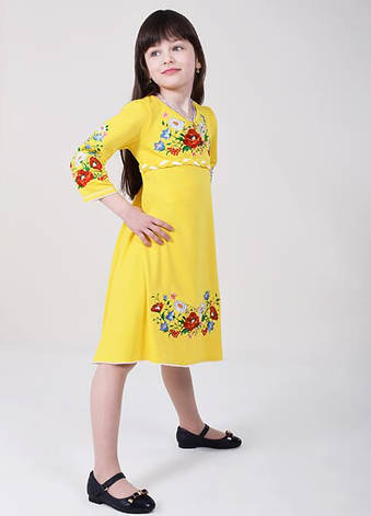 Сукня дитяча вишита жовта