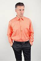Персиковая рубашка в полоску