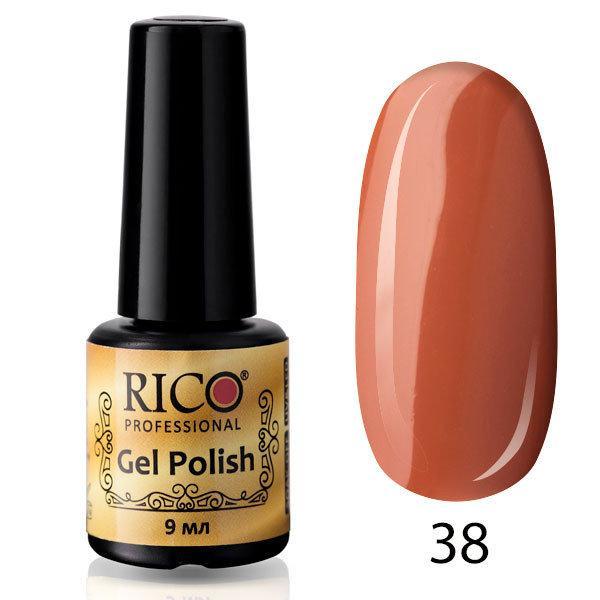 Гель-лак Rico Professional № 38, Молочный шоколад, эмаль, 9 мл