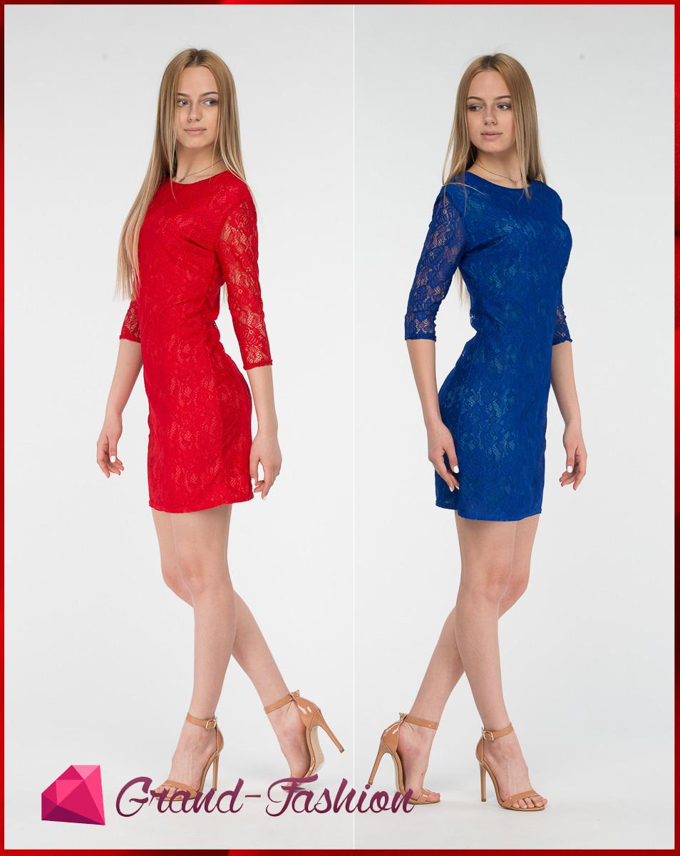"""Платье кружевное  """"LACCE"""" 2 цвета, фото 1"""