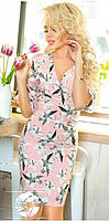 Женское платье с цветочным рисунком