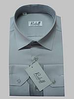 Мужская рубашка с длинным рукавом серого цвета
