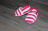 Вязаные детские пинетки-слипоны для новорожденных