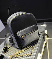 Женский бархатный рюкзак серого цвета