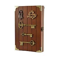 "Ключница  настенная, деревянная -""Ключи на доске"""