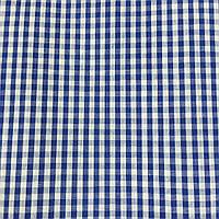 Коттон сорочечный в среднюю синюю клетку