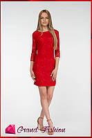 """Платье """"LACCE"""" красный, фото 1"""