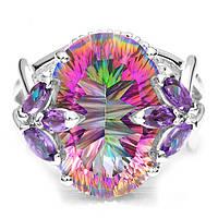Серебряное кольцо Мистический  Аметист