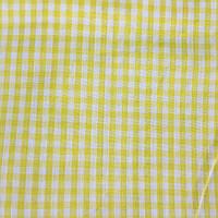 Коттон сорочечный в среднюю желтую клетку