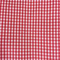 Коттон сорочечный в среднюю красную клетку