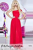 Торжественное платье в пол Филомена красное