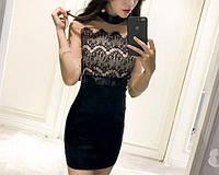 Платье женское с кружевом и бантом сзади,магазин стильной одежды