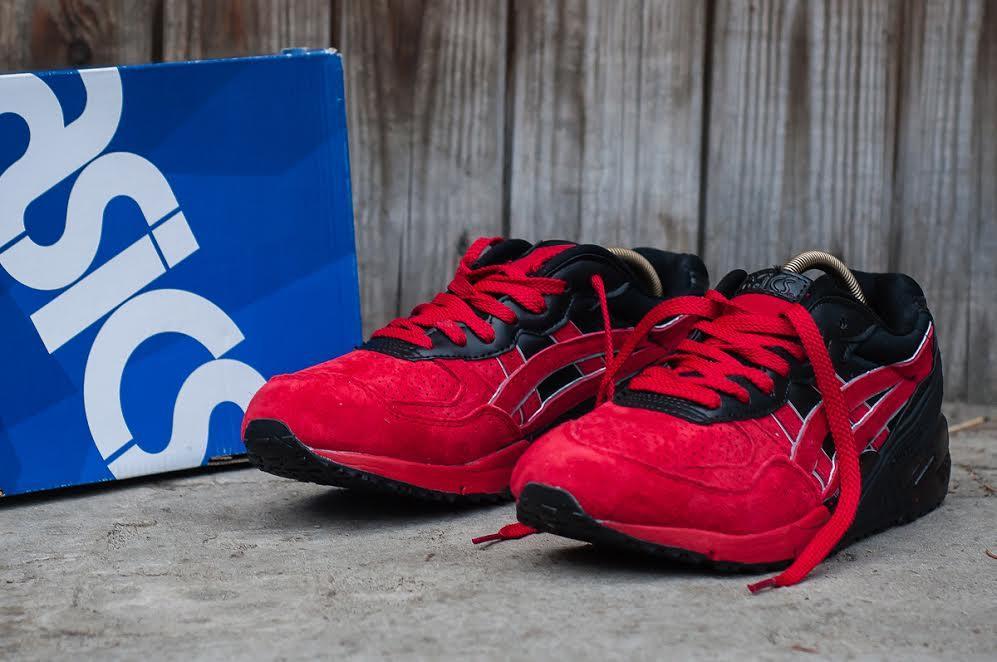 Мужские кроссовки Asics Build Up красные с черным топ реплика