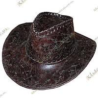 Ковбойская шляпа, кожзам р-р 54-59 мрамор, фото 1