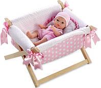 Пупс младенец 33 см в кроватке на подушке Испания ARIAS 60145