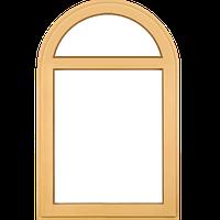 Арочные глухие деревянные окна