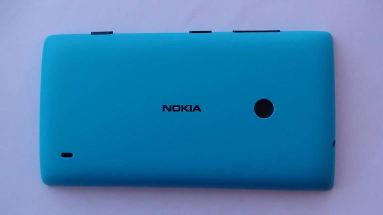 Задняя крышка Nokia Lumia 520 голубая, оригинал, 02502Z9, фото 2