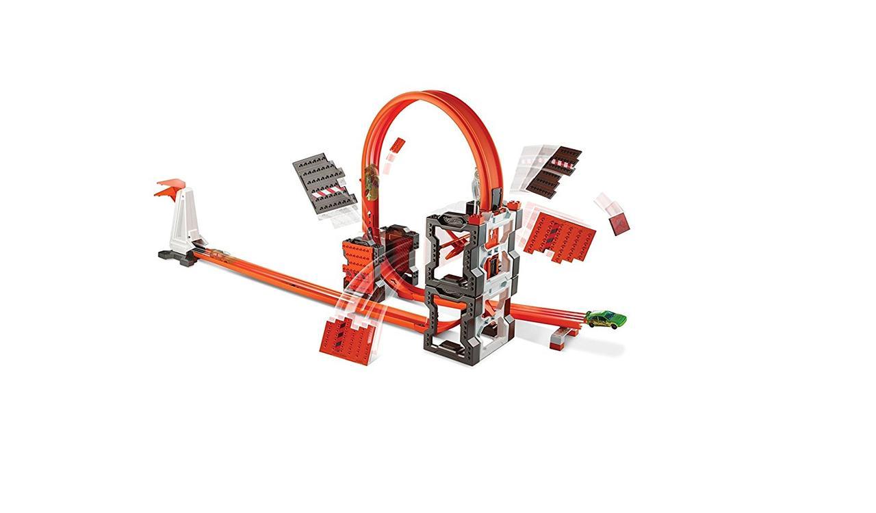 Трек Хот Вилс Ударная волна Hot Wheels Track Builder Construction Crash Kit