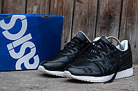 Мужские кожаные кроссовки Asics Gel V черные